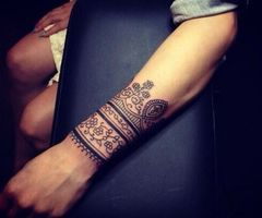 Mehndi Tattoo Cuff : Tattoo wrist cuff tattoos and tatoos