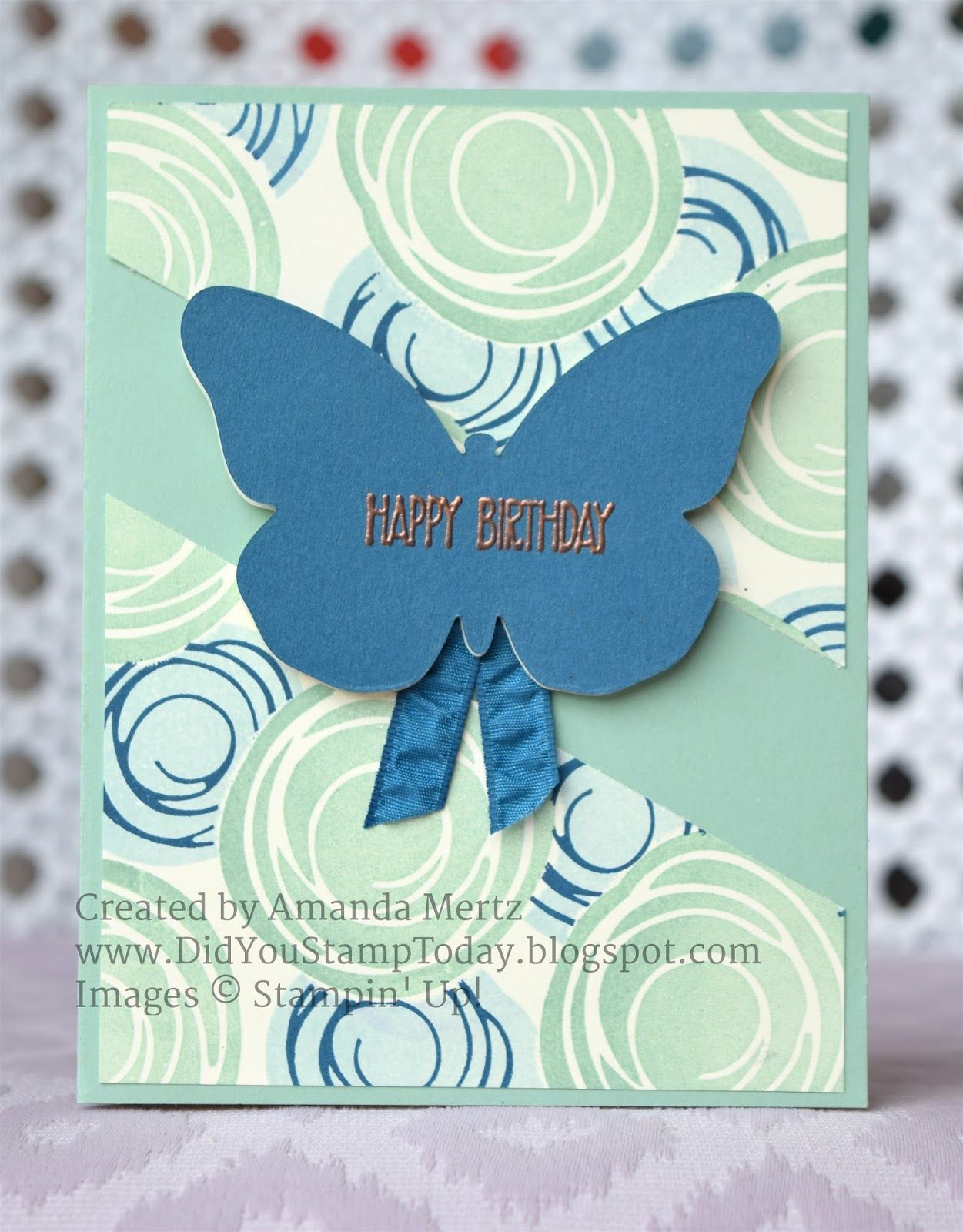 Did You Stamp Today?: Swirled Masked Background - Stampin' Up! Swirly Birds