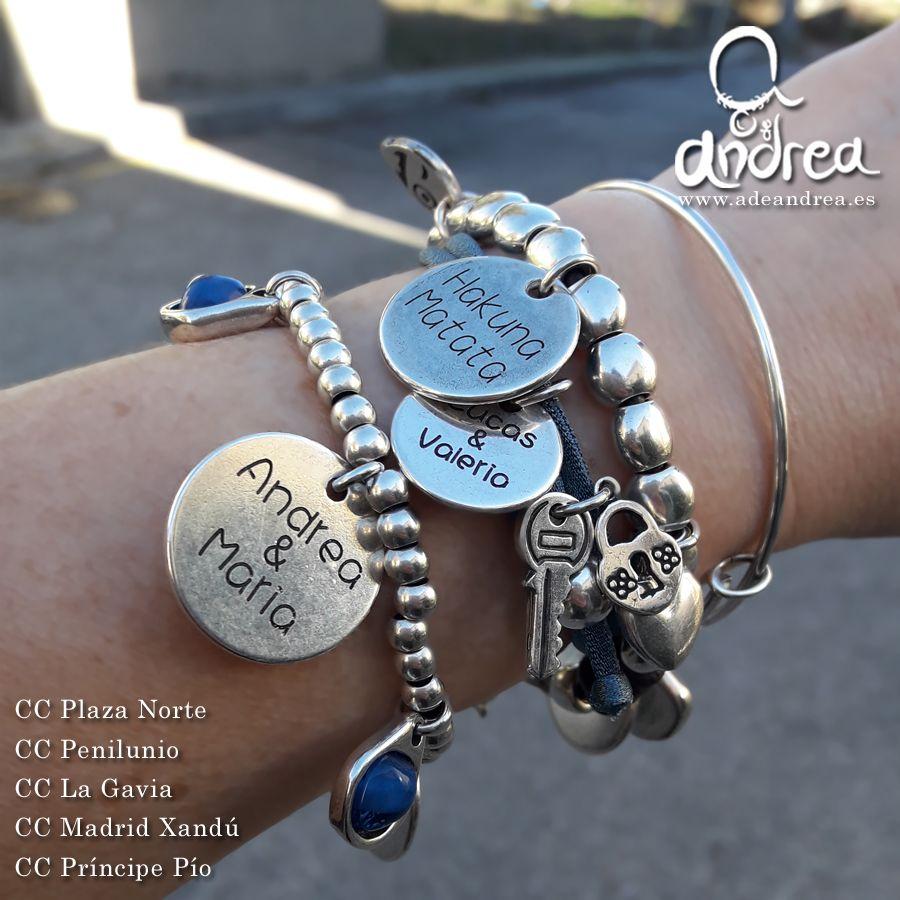 1dd26a475679 Tus pulseras personalizadas en A de Andrea. Podrás elegir la base de tu  pulsera