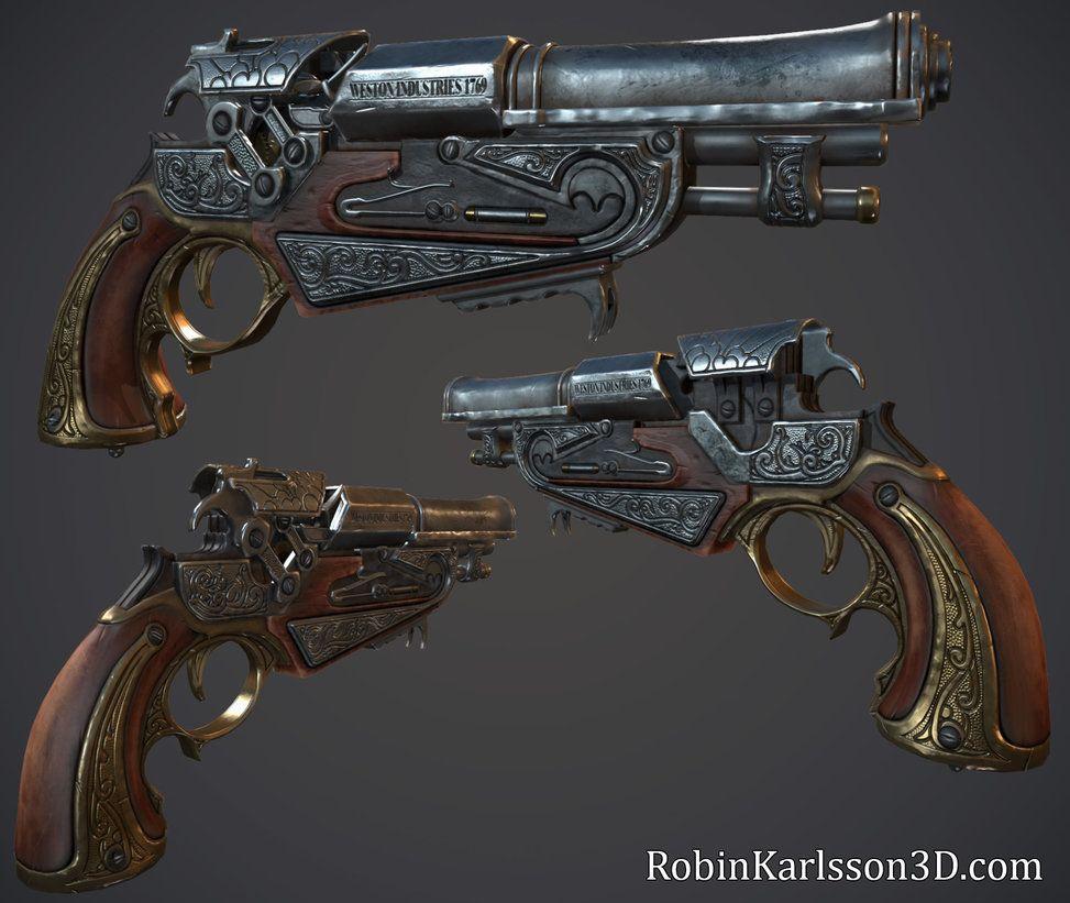 Flintlock Pistol Nosslak Deviantart Ranged Weapons