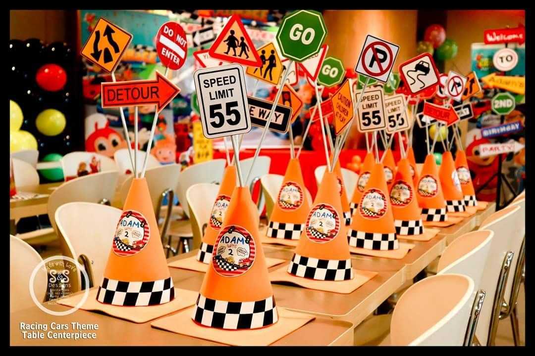 Diy Road Cones For Racing Cars Theme Party Cars Birthday Party