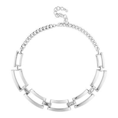 Principles by Ben de Lisi Designer polished silver crystal link necklace | Debenhams