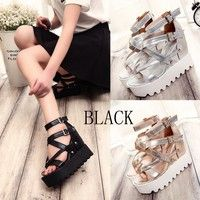 Fashion Sandals Summer Wedges Women's Sandals Platform Lace