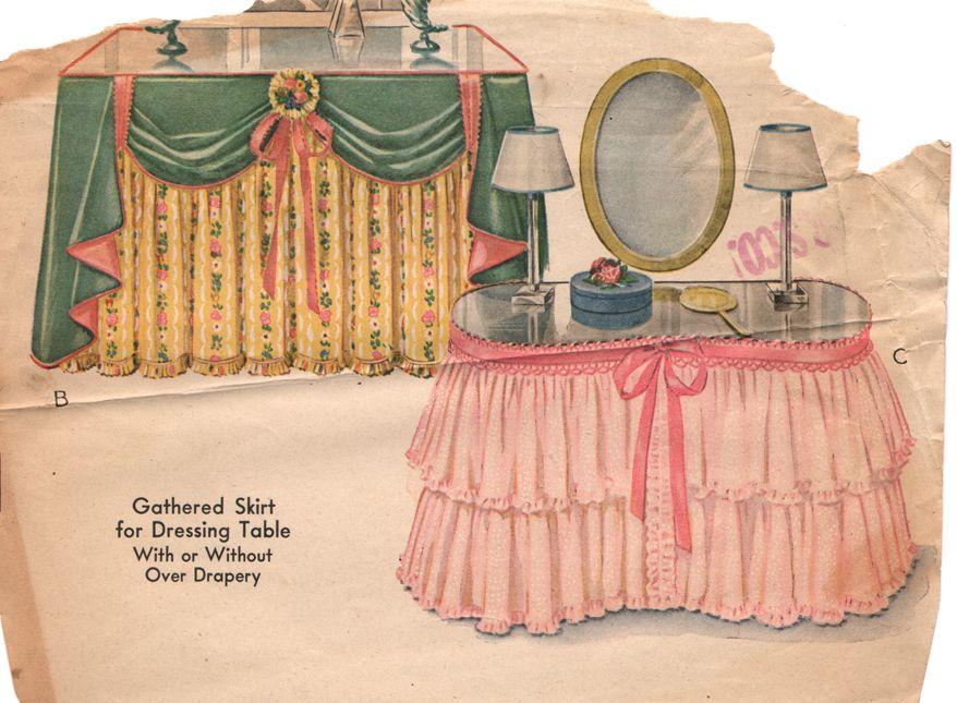 Vintage Vanity Skirt Catalog Ad So Darling Pink