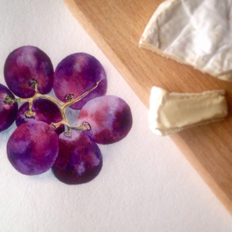 Watercolor grapes...