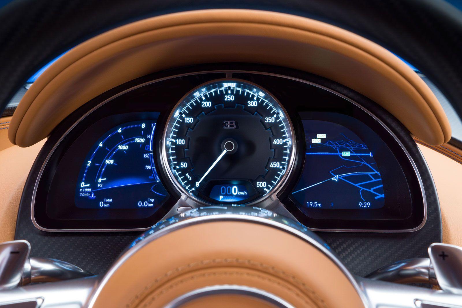 bugatti chiron interior instrument panel car pinterest