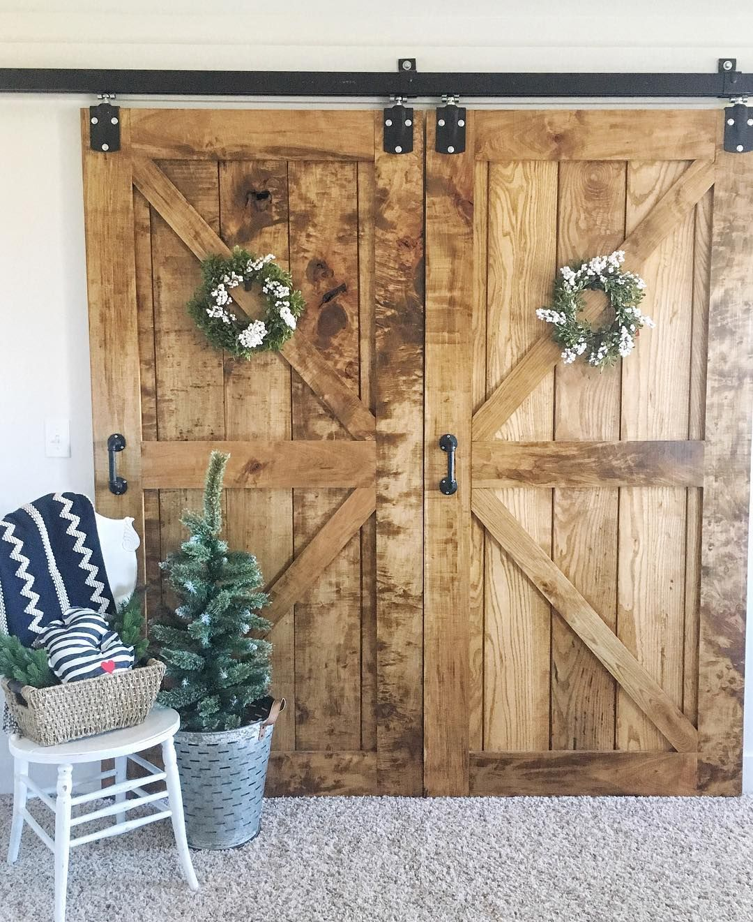 Incroyable Barn Doors Made By My Husband    Barn Door Hardware From Tractor Supply! ❤️