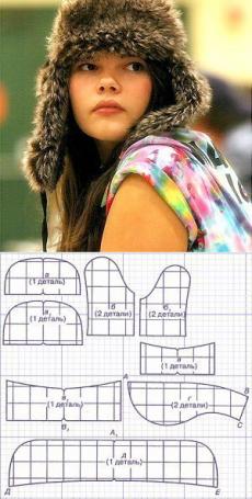 Выкройка ушанки (Шитье и крой) | Журнал Вдохновение Рукодельницы