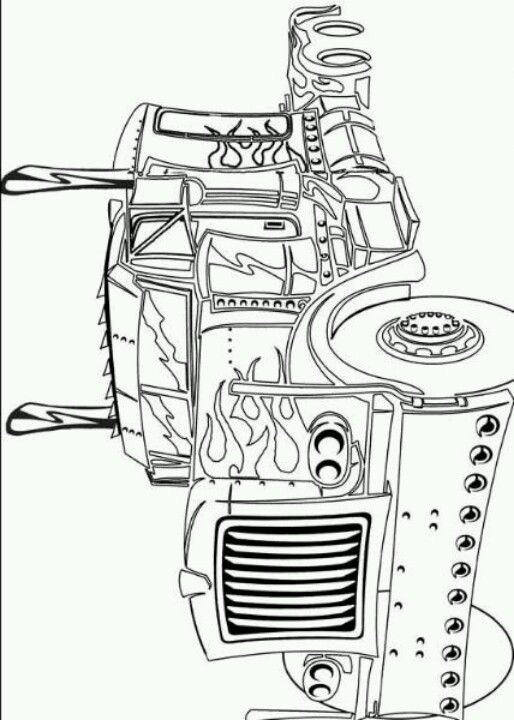 Optimus Prime Coloring Page Transformers Coloring Pages