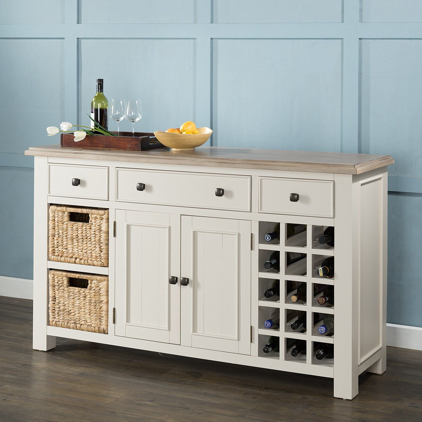Buffet Sideboard With Wine Rack Hampton Large Sideboard Wine Rack Baskets Diy In 2019 Large