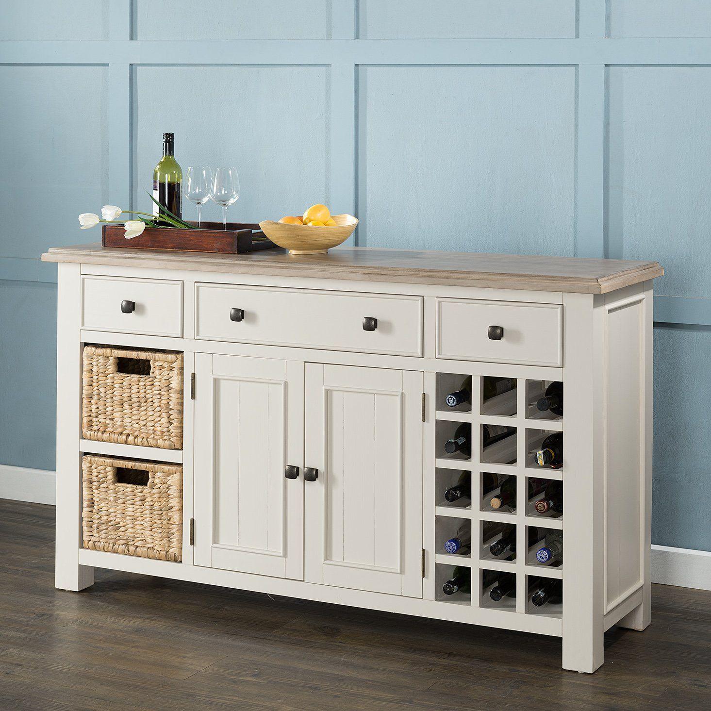 Hampton Large Sideboard - Wine Rack/Baskets | Sideboards | Pinterest ...