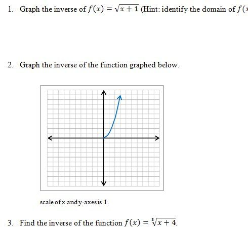 Inverse Functions Worksheet and Answer Key. Free 25 question pdf on ...