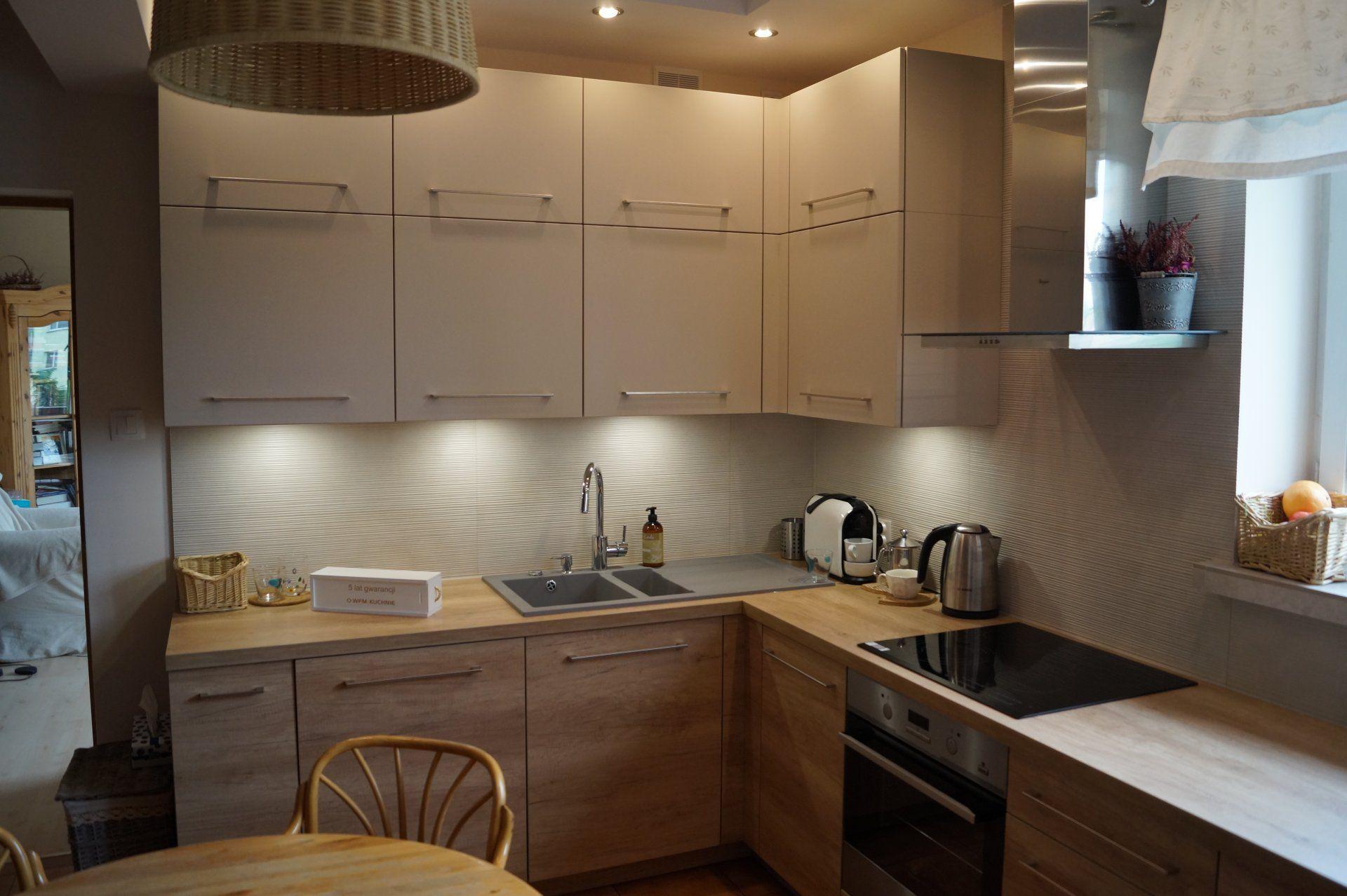 Kuchnia Nowoczesna Wfm Punto Nebraska Latte Kitchen Design Kitchen Kitchen Cabinets