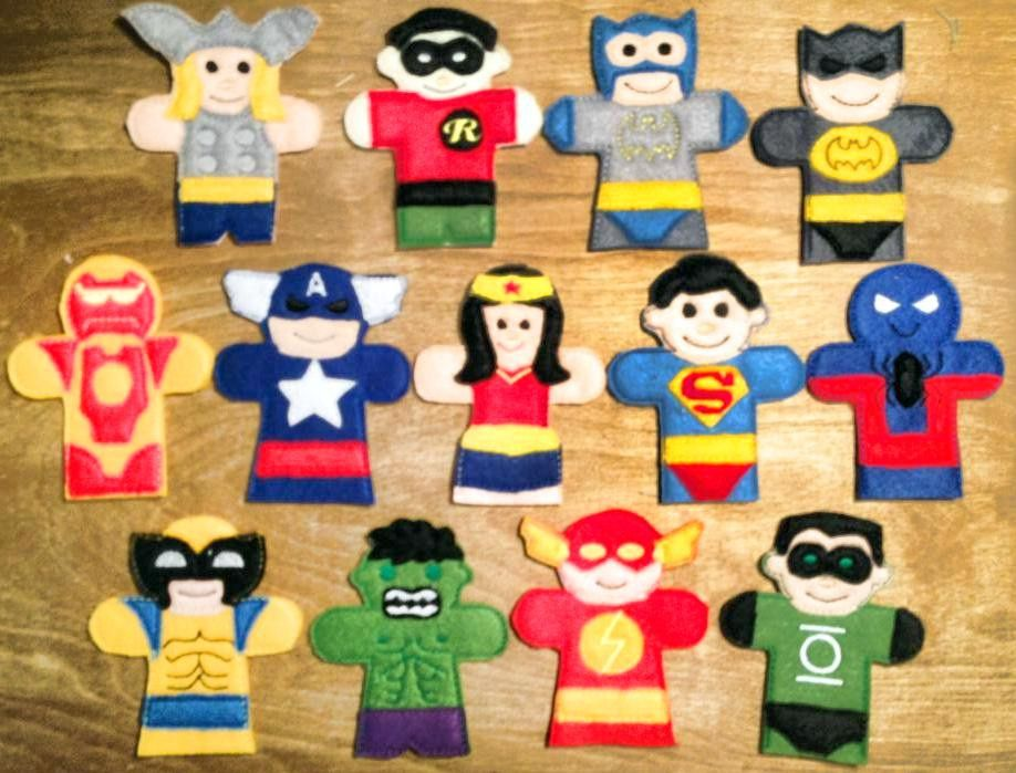 OFNAH - SUPER HERO FINGER PUPPET SET | títeres | Titere de