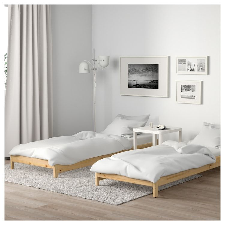 Utaker Stackable Bed With 2 Mattresses Pine Minnesund Twin