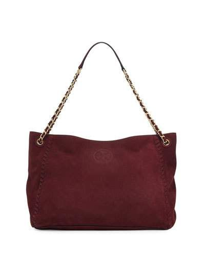 61ea15460fb3 Marion Slouchy Suede Chain Tote Bag