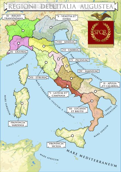 Mappa Dell Italia Wikipedia.File Regioni Dell Italia Augustea Svg Wikipedia Storia Antica Mappa Dell Italia Storia