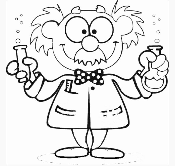 Mad Science Coloring Page Best Of Scientist Cute Kids In 2020 Mad Scientist Science Themes Coloring Pages