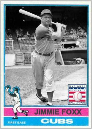 Jimmie Foxx Chicago Cubs My Custom Baseball Cards