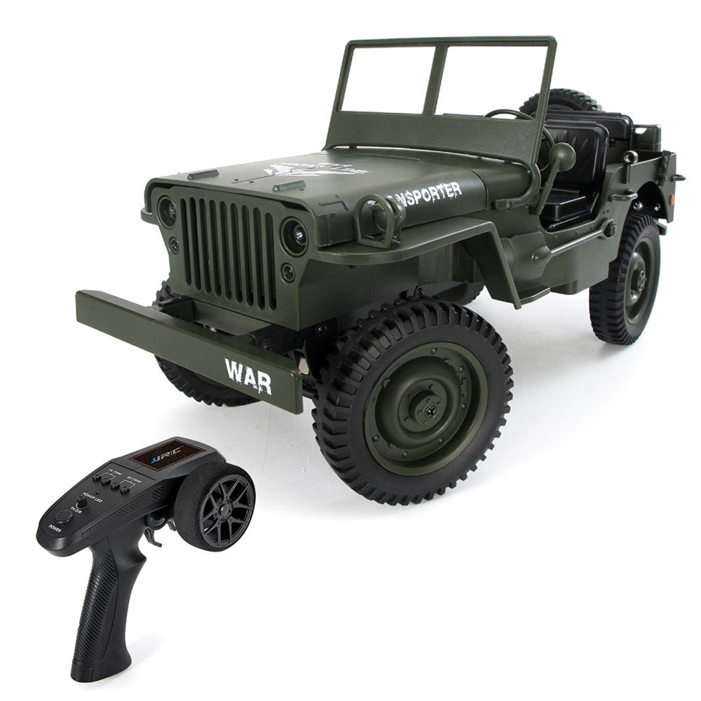 Jjrc Q65 Transporter 6 2 4g 1 10 4wd Convertible Jeep Off Road Rc Car Military Truck Rtr Army Green Rc Cars Best Rc Cars Off Road Rc Cars