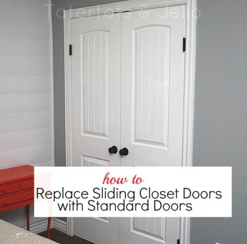 How To Replace Slideing Closet Doors With Standard Sliding