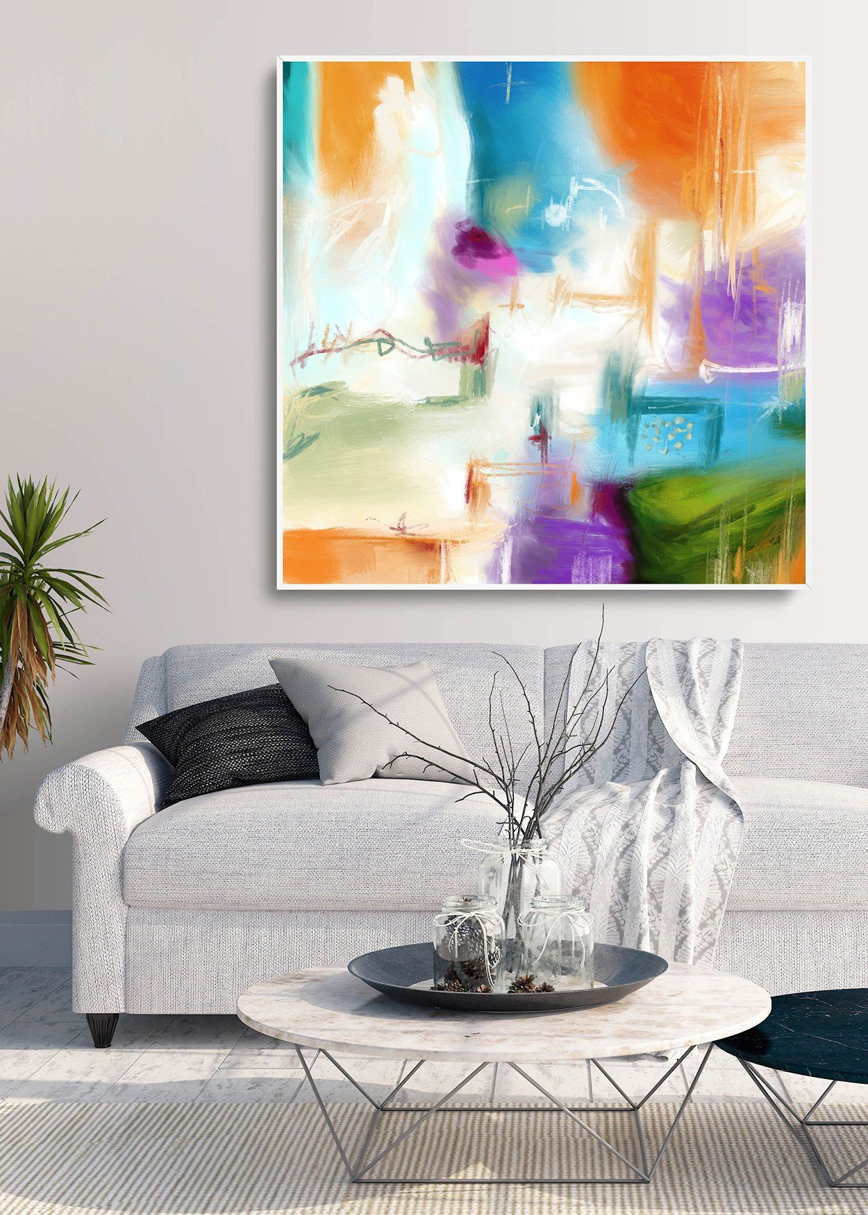 Extra Large Abstract Canvas Art Uk