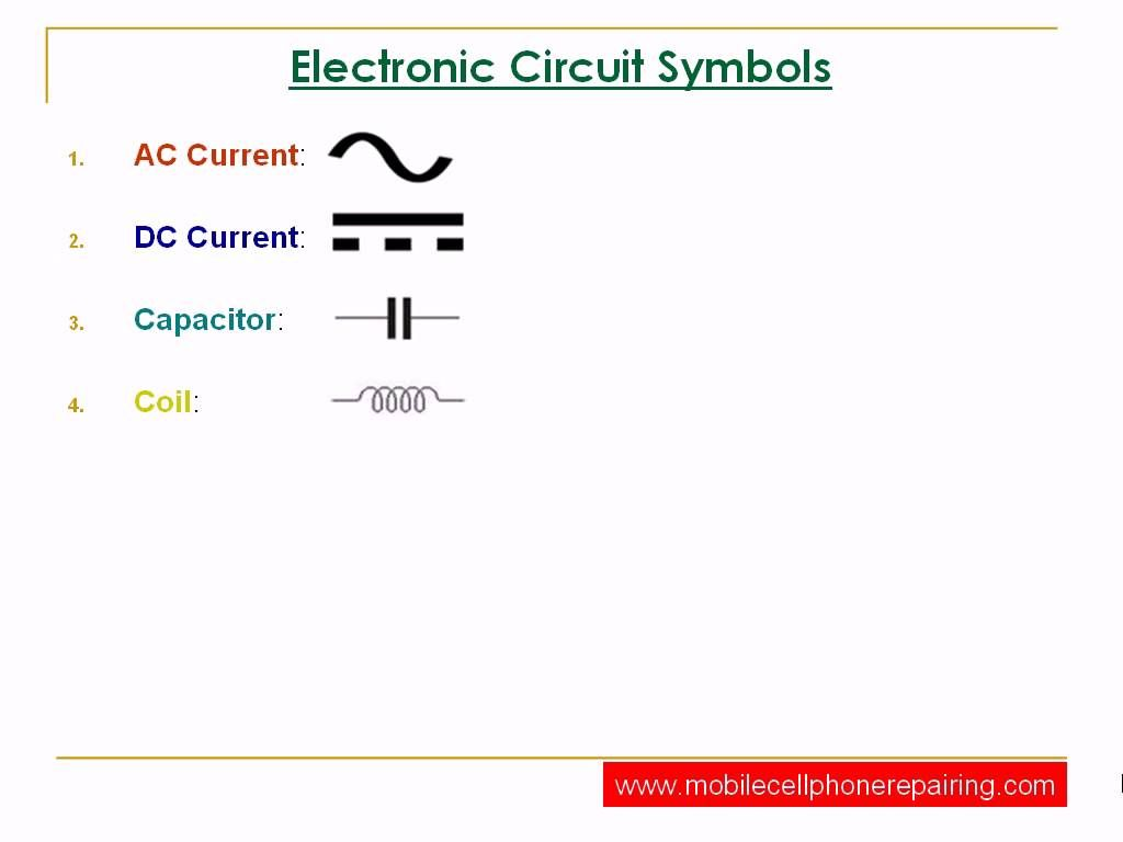 Circuit Symbols Of Electronic Components Electronic Kits Circuit Structured Wiring
