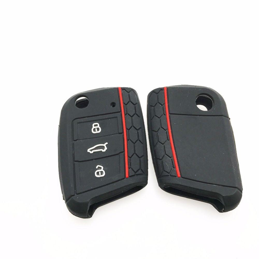 2016 جديدة حقيقية اكسسوارات السيارات مفتاح القضية حقيبة غطاء ل Volkswagen Vw جولف 7 Mk7 سكودا اوكتافيا A7 Seat I Car Accessories Bag Cover Electronics Workshop