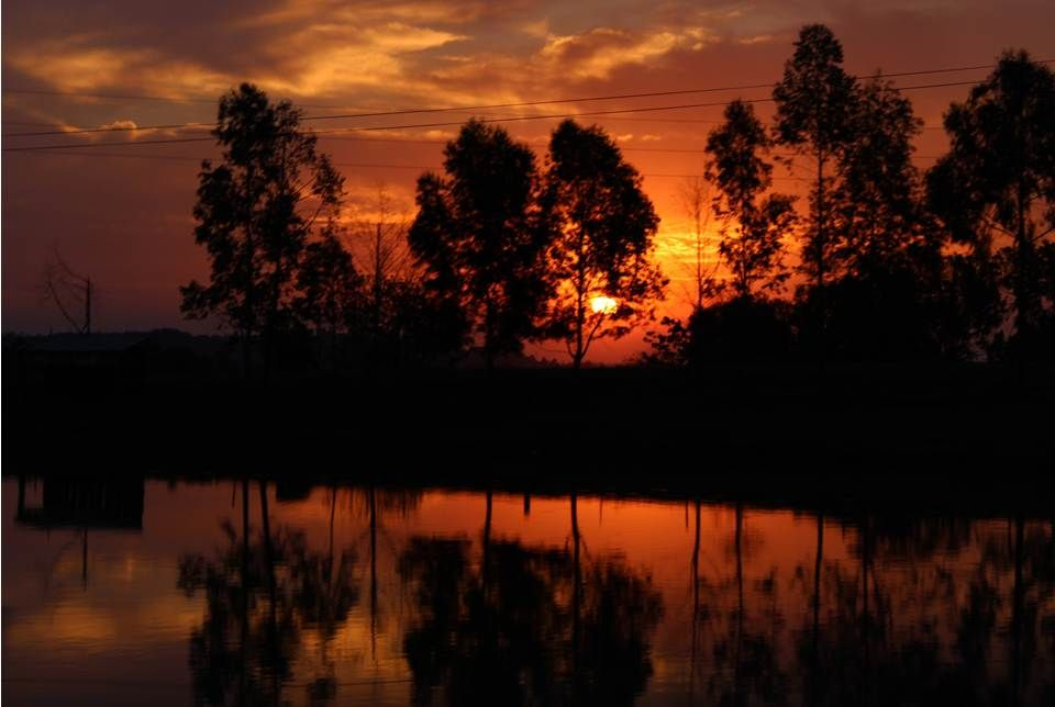 Pôr-do-sol em Itapiranga.  Copyright to Danilo Bueno.