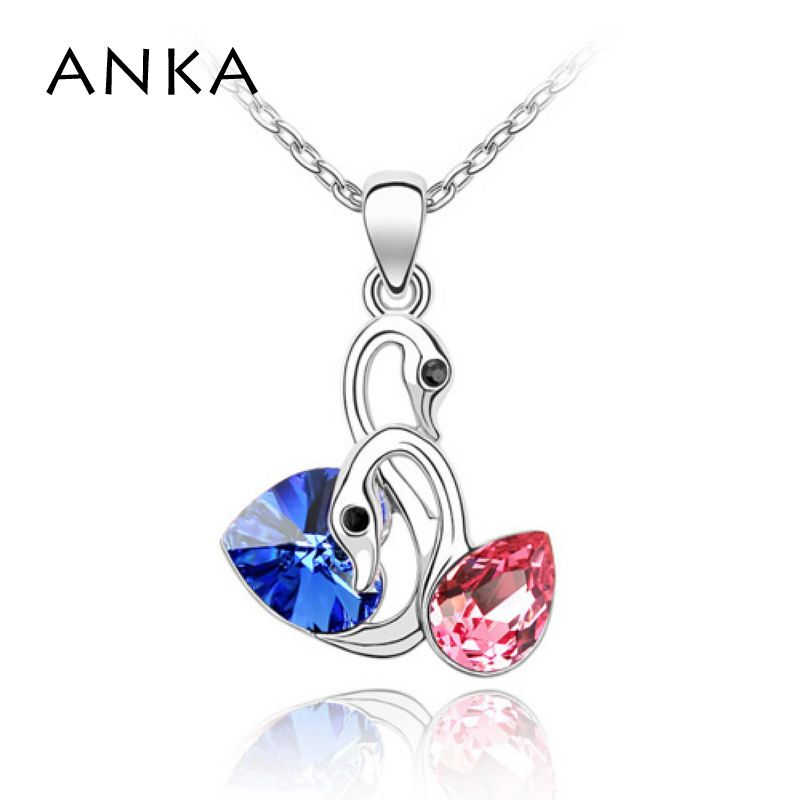 >> Click to Buy << promotion couple swan crystal necklace wholesale price jewelry for women Crystals from Swarovski #78387 #Affiliate