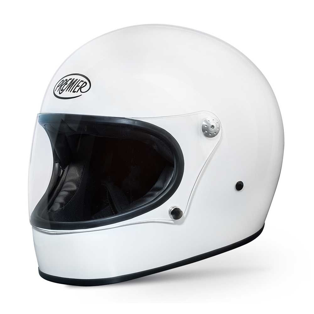 Premier Trophy Helmet Gloss White Full Face Motorcycle Helmets Free Uk Delivery Caschi Vespa