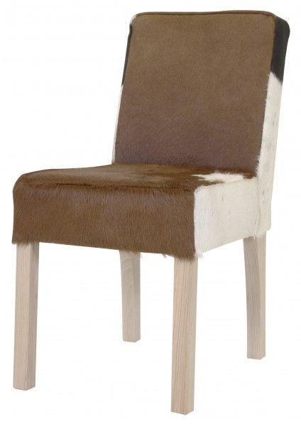 stuehle fuer die gastronomie, casa padrino designer esszimmer stuhl modef 35 kuhfell - hotelmöbel, Design ideen