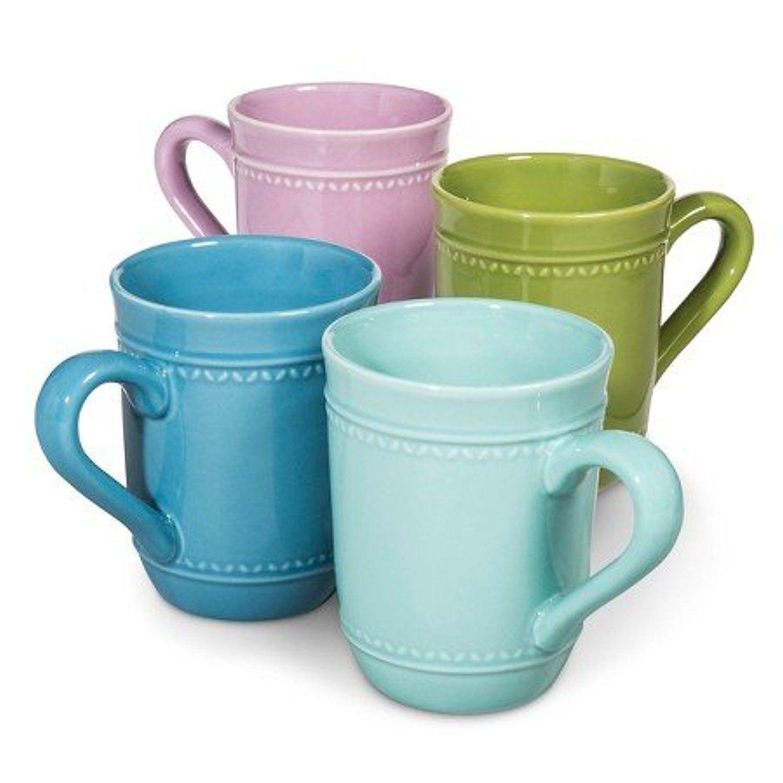 Boho Boutique Camille Solid Coffee Mug - Set of 4   Kitchen Decor ...