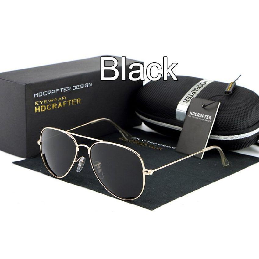 4218f1f0c เว็บผู้ชายสวมแว่นกันแดดนักบินสีดำ Polaroid  เลนส์ไทเทเนียมแว่นตากันแดดยี่ห้อรถออกแบบกรอบกล่องเดิมÓculos คน