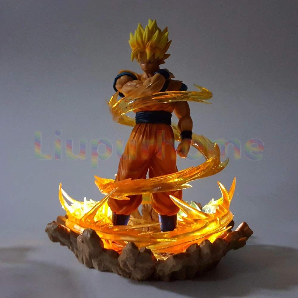 Dragon Ball Z Goku With Effect Diy Led Night Lights Lamp Anime Dragon Ball Dbz Son Goku Led Lamp Christ Anime Christmas Anime Dragon Ball Goku Dragon Ball Goku