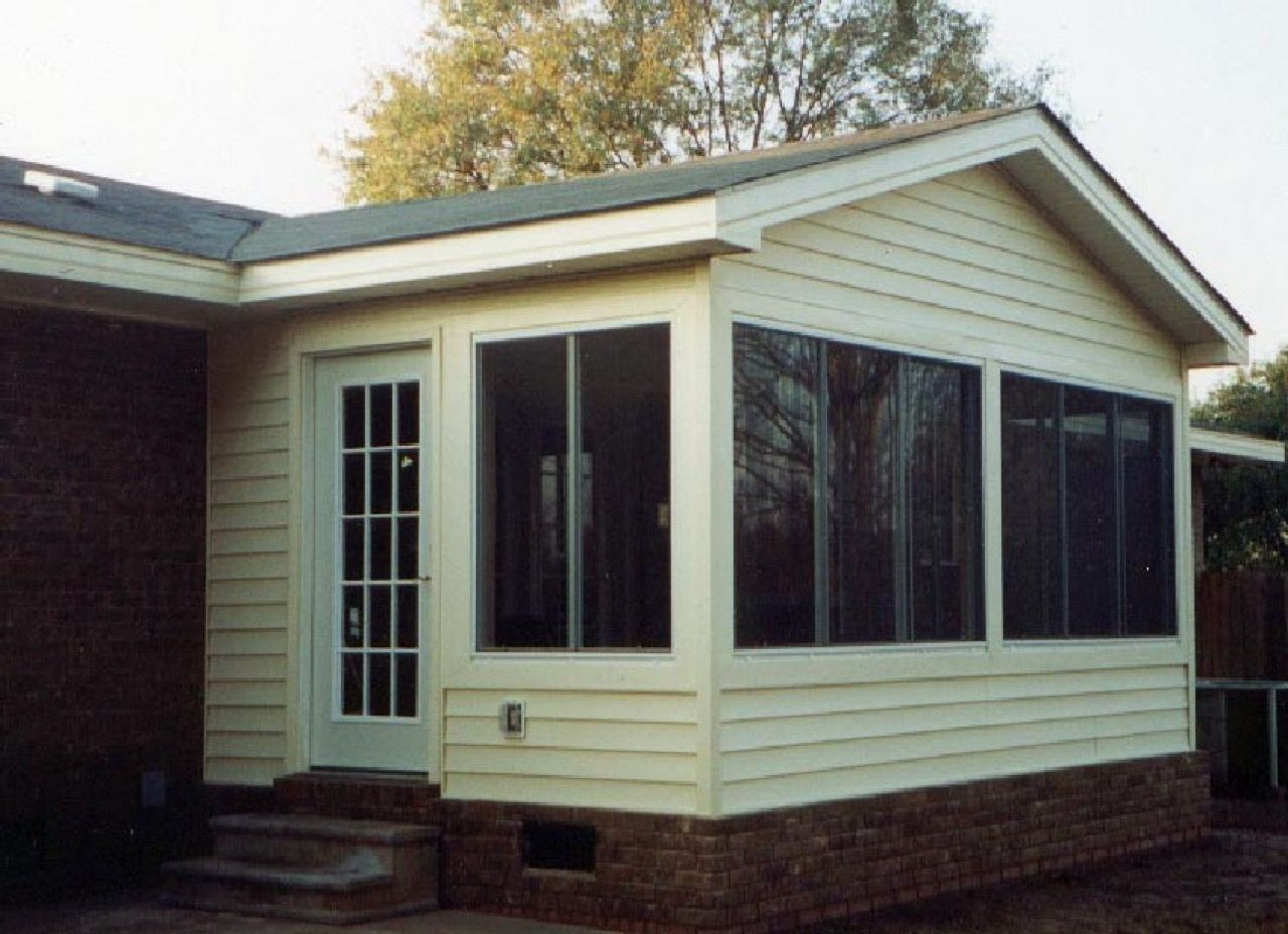 Kernersville Sunroom With Brick Skirting Design Ideas Archadeck Sunroom Brick Outdoor Decor