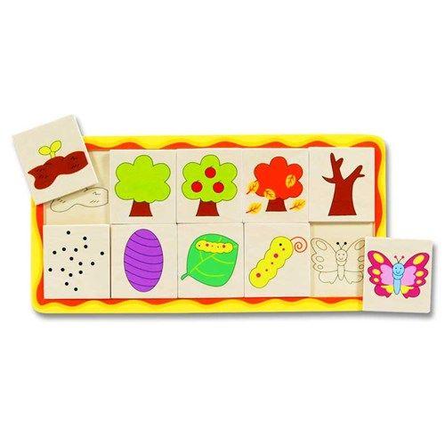 Groeipuzzel Vlinderboom Hout Houten Speelgoed Pinterest