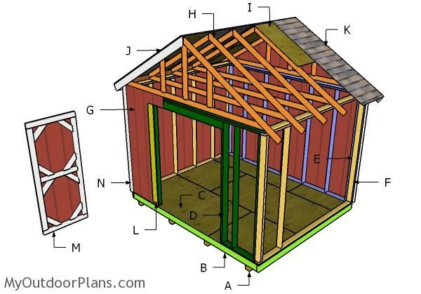 12 10 Shed Plans Diy Shed Shed Plans Shed Building Plans