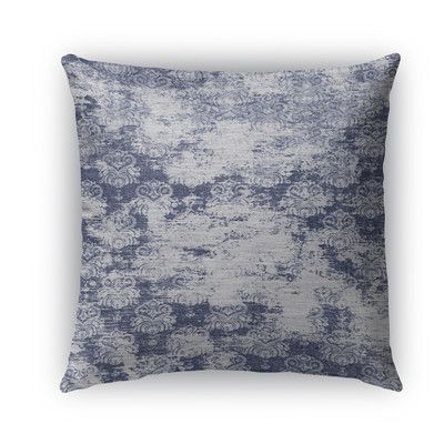 "Kavka Milano Burlap Indoor/Outdoor Throw Pillow Size: 18"" H x 18"" W x 5"" D, Color: Blue"