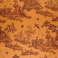 schumacher orange toile fabric HOUSE La Lecon de