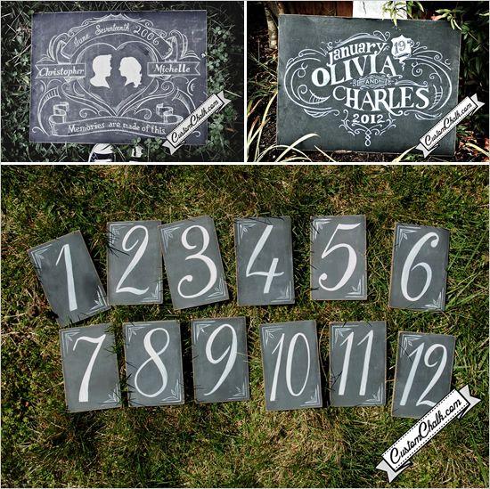 chalk wedding ideas