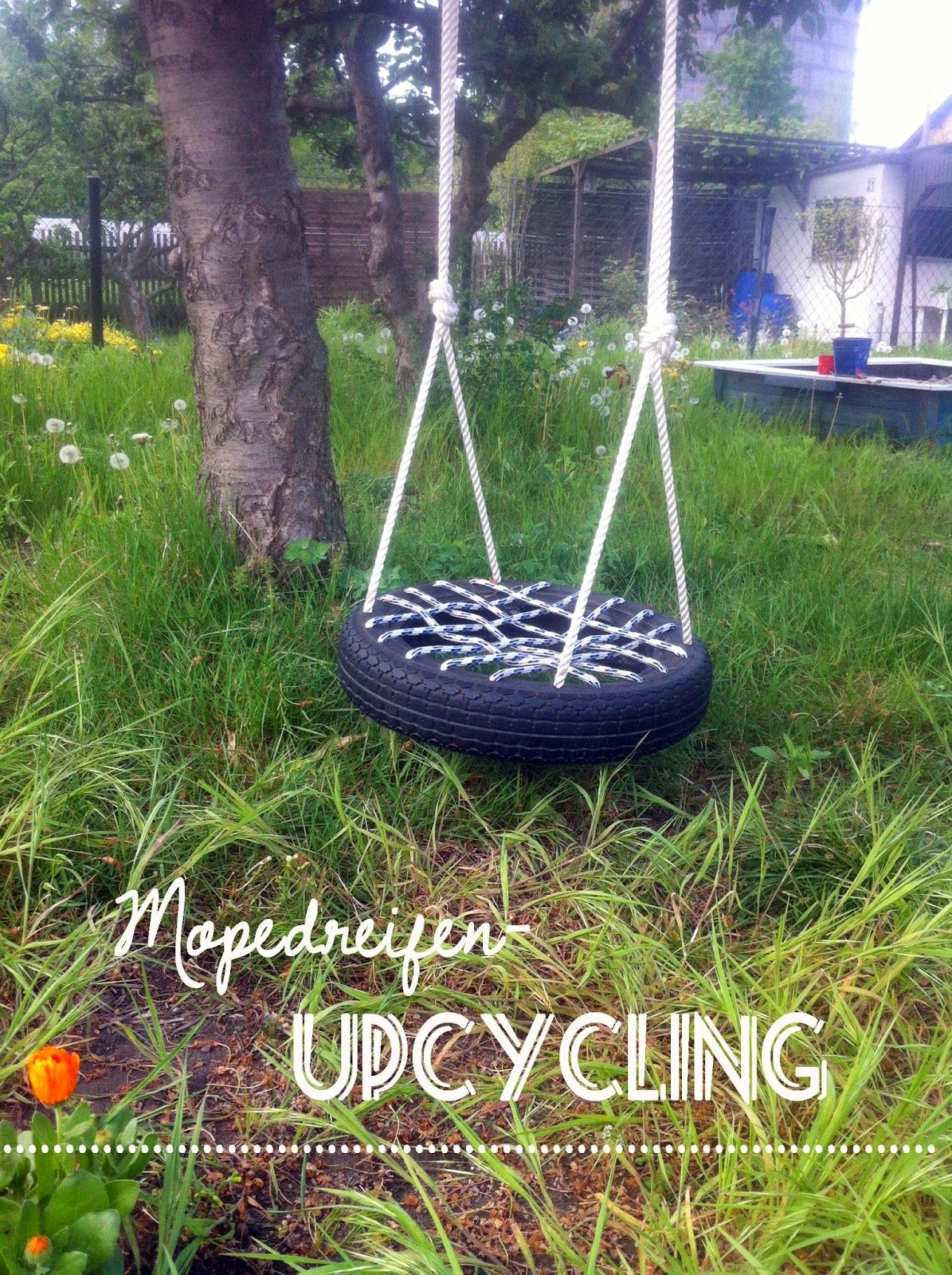upcycling kinderschaukel aus reifen swing made of car tyre upcyclingapril2014 pinterest. Black Bedroom Furniture Sets. Home Design Ideas