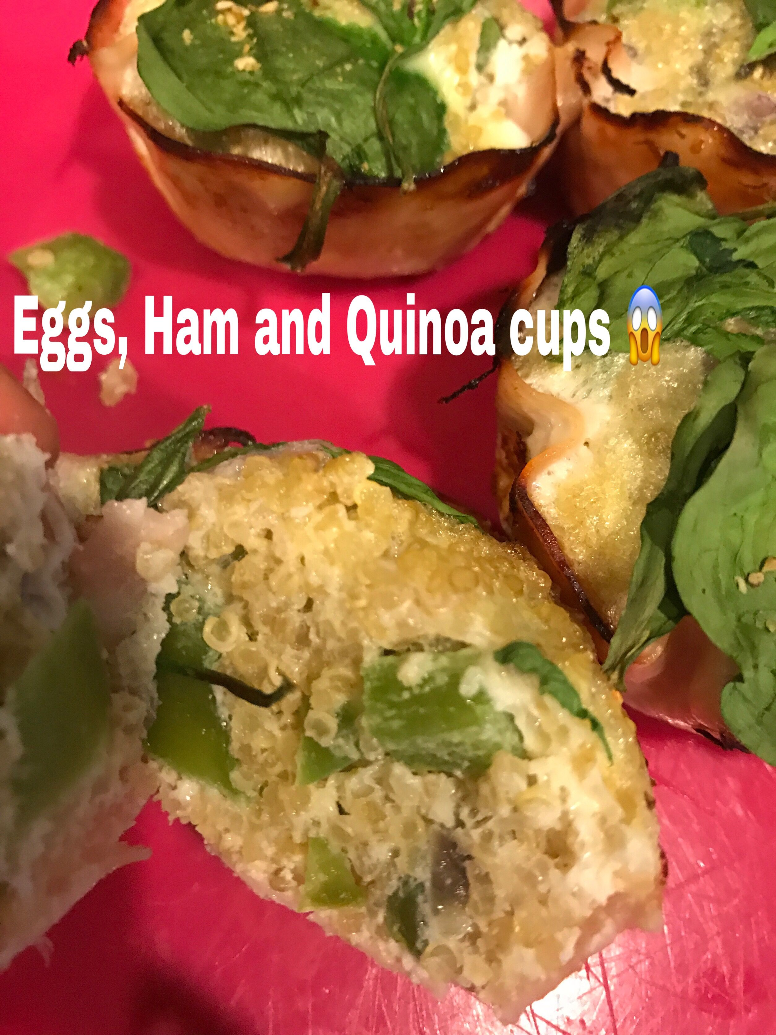 Full recipe equals to - 1 yellow - Cooked Quinoa 2 red - 4 Egg Whites