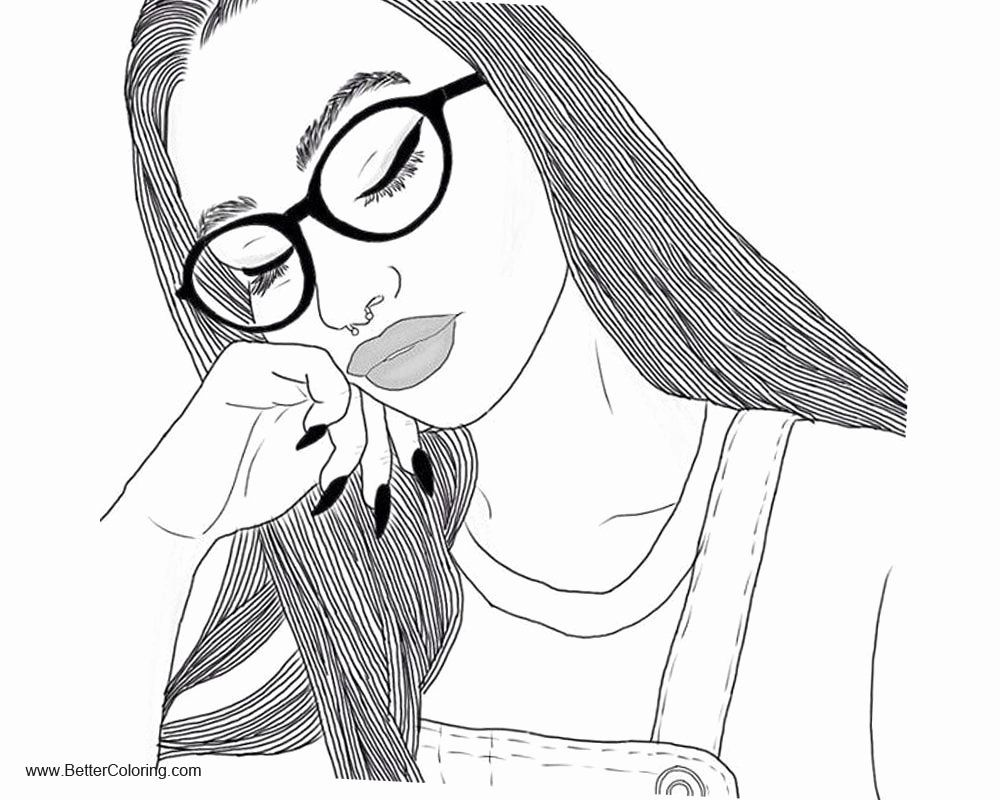 Coloring Books For Teenage Girls Best Of Girly Coloring Pages Sleepy Girl Free Printa Coloring Pages For Girls Cute Coloring Pages Coloring Pages For Teenagers