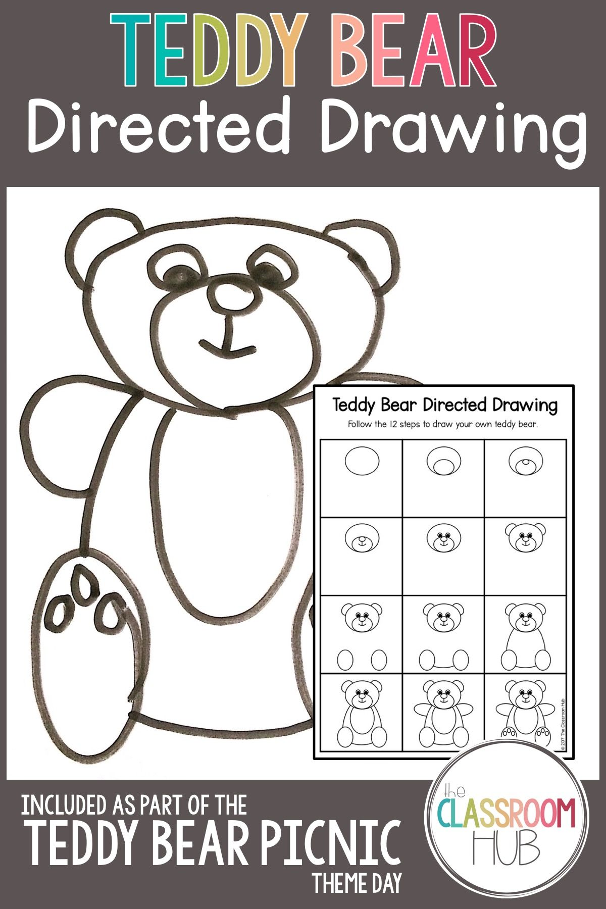 Teddy Bear Directed Drawing Is Part Of Our Picnic Theme Day Resource Your