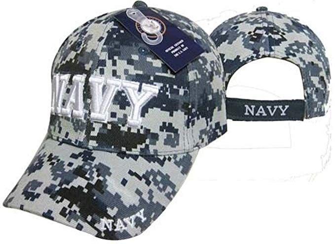 a16007f2aed U.S. Navy Veteran 3D Letters Digital Camo ACU Embroidered Cap Hat (Licensed)