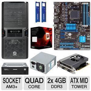 Computer Parts Asus 970 Am3 Motherboard Amd Fx 4300 Quad Core 3 8ghz Processor 2x Adata Premier Srs 4gbs Memory Modules Evga Gtx650 Asus Quad Memory Module