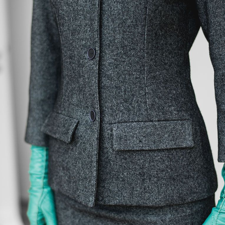 free pattern - Blaugrauer Tweedblazer (23/1) | Nähmuster | Pinterest ...