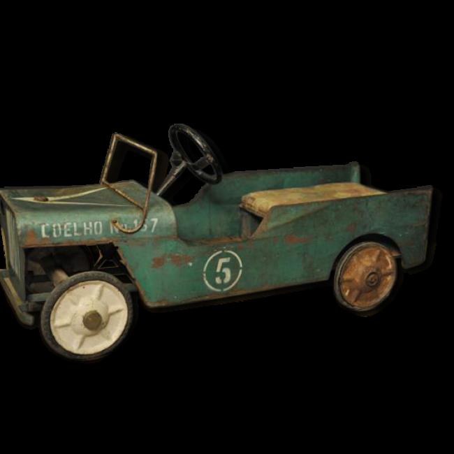 petite voiture p dales en m tal vert m tal dans son jus vintage 19968 pedal car and cars. Black Bedroom Furniture Sets. Home Design Ideas