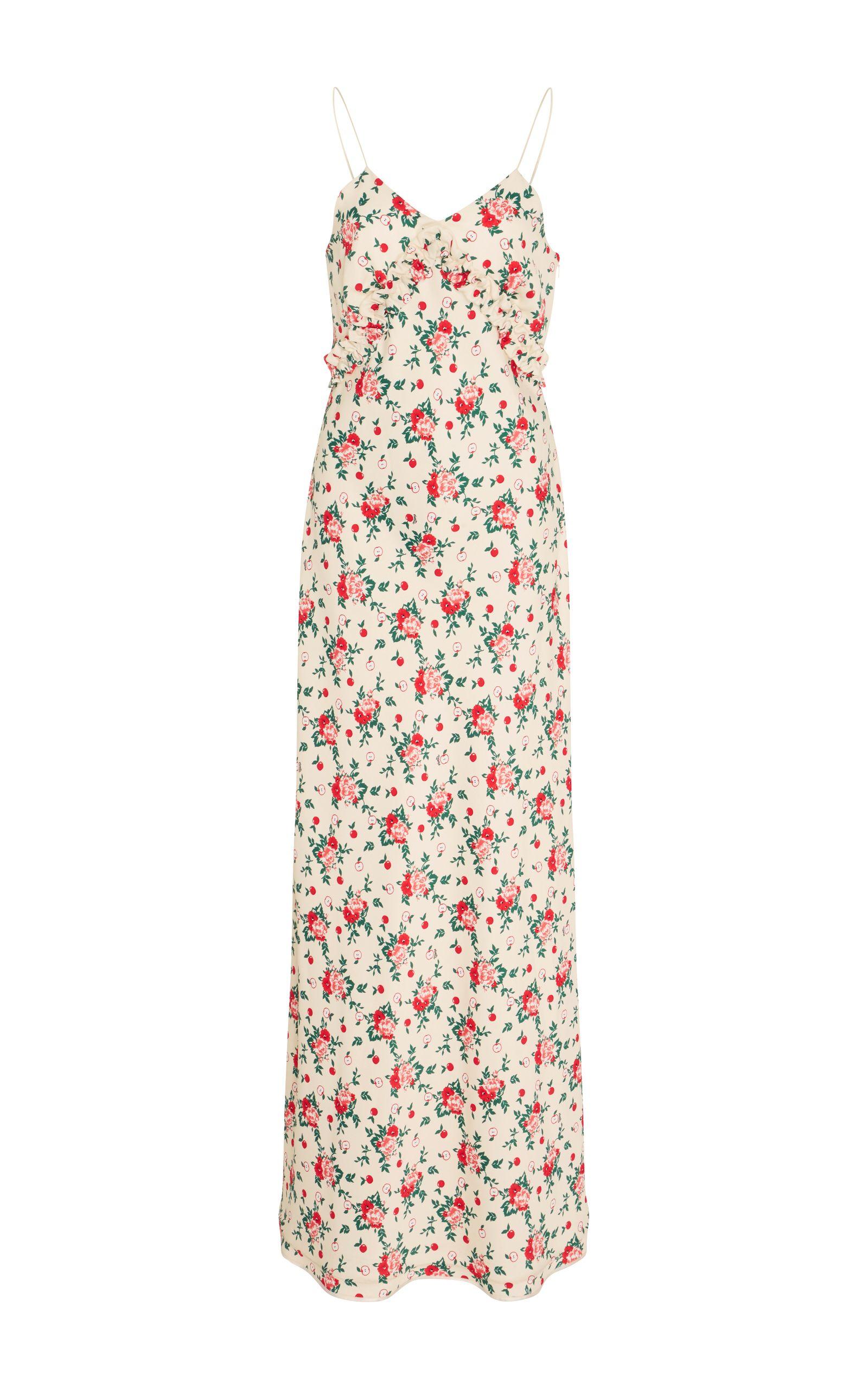 Vivetta bariki floral slip dress with neck tie dresses pinterest